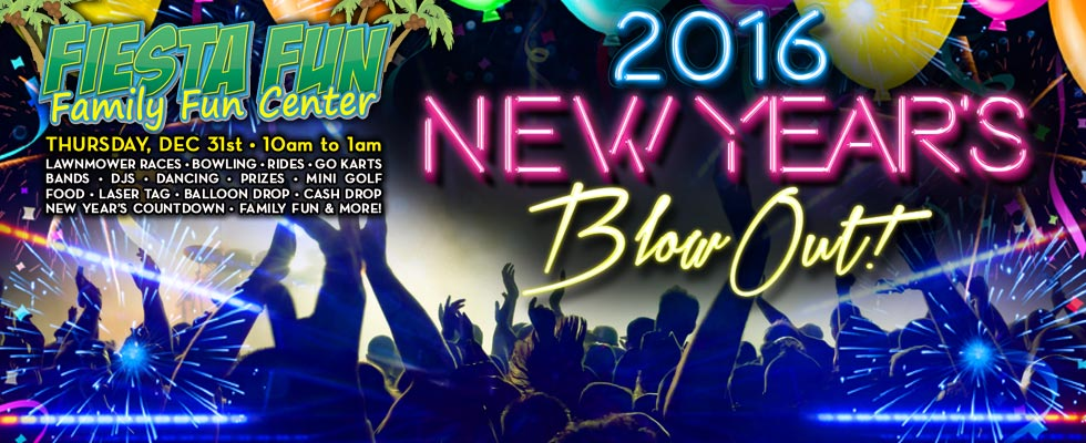 All Ages Event: New Years Eve @ Fiesta Fun!
