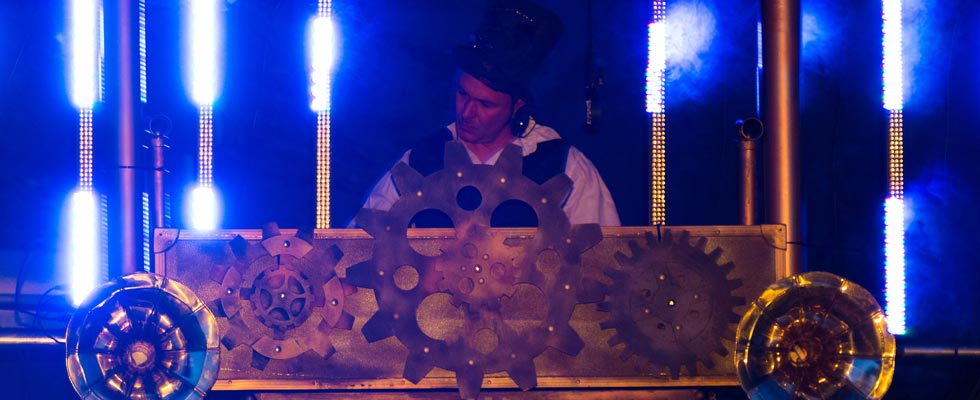 Steampunk DJ Booth