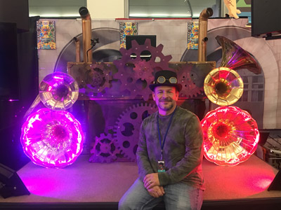 Steampunk DJ Booth Dcon